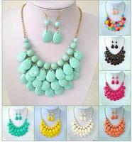 Bestnote Statement-Halskette Heiße Verkaufs-Art und Weise böhmische Lätzchen Halskette für Frauen Mädchen Schmuck Großhandel freien Schiffs 0246WH