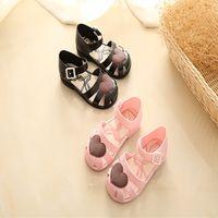 Yeni Çocuk Kız Yaz Mini Melissa Jöle Ayakkabı Çiçek Düz Hollow Plaj Bebek Ayakkabıları çocuk Sandalet