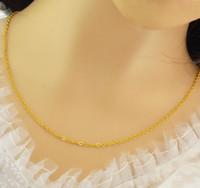 Collar nupcial amarillo de la cadena O, collar chapado en oro de 24 k para 2016 joyería de mujer adecuada para cualquier colgante