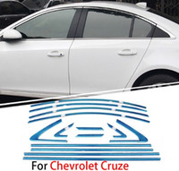 시보레 Cruze 2010 2011 2012 2013 2014 크롬 커버 크롬 스타일링 스트립 자동차 전체 창 트림 장식 액세서리