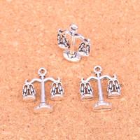 55 قطع أثرية فضية مطلي الميزان سحر المعلقات ل سوار الأوروبي مجوهرات جعل diy اليدوية 22 * 17 ملليمتر