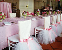 Chair Sash for Weddings Satin Tulle Flower Labera Delicate W...