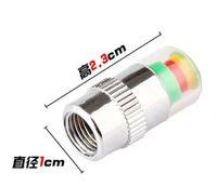 تنبيه الهواء صمام الاطارات كاب سيارة ضغط الهواء في الإطارات مراقبة ضغط كاب السيارات صور 2.4BAR أداة 36PSI TPMS 3 ألوان تنبيه 1SET = 4PCS EMS