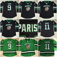 North Dakota Fighting Sioux Hockey Jersey # 9 Jonathan Toews # 11 Zach Parise en blanco Green University Stitched Jerseys Envío gratis