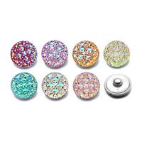 Hot Silicone 18mm resina acrilica irregolare in resina Snap Button 004 Fit Charm Bracciali intercambiabili Gioielli per le donne Accessori
