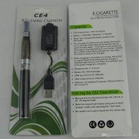 Cigarrillo electrónico EGO-T CE4 Kits de blister con ecigarettes 1100mAh ego t batería CE4 Vaporizador Atomizador Tanque Vape Vape Pens Kits de inicio