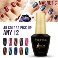 Brand Azure Stripe magnetic glue 12pcs China gel polish fash...