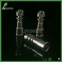 Gr2 hembra 10 mm / 14 mm y 14 mm / 18 mm clavo de titanio eléctrico sin doble función de doble función 2 en 1 bobina E accesorios de fumar de titanio