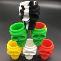 Petits pots de silicone de bâton non de silicone de boîte de récipient de forme de crâne pour le vaporisateur 3ml 15ml de cire de Dabber