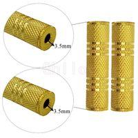 3,5 mm Kvinna till 3,5 mm Kvinna F / F AUDIO ADAPTER Coupler Metal Gold Plated 500pcs