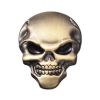Voiture 3D Crâne Awesome Toute Métal Auto Camion Moto Emblem Badge Autocollant Sticker Décalque de décalcomanie Cahier d'ordinateur portable Tarçon auto-adhésif