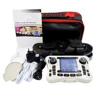 110-240 V DEZENAS terapia Digital dual channel saída EMS alívio da dor massageador estimulador muscular do nervo elétrico Fisioterapia