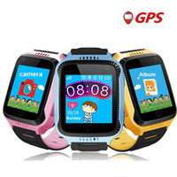 Los niños ven el rastreador de GPS Q528 Y21 GPS Smart Watch Linterna Cámara Los niños miran la pantalla táctil SOS Ubicación de la llamada Reloj de los niños