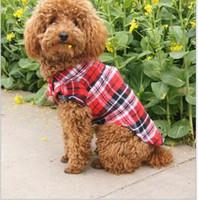 D96 Haustierhundeplaidhemd-Sommerkleidung für Hunde nette Hundekleidung für kleine Haustierhundekleidung freies Verschiffen