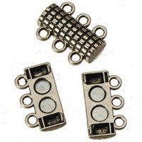 antique silver magnetic clasps hooks metal diy multilayer br...