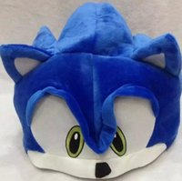 Sonic Blue Peluche Bonnet Hedgehog Hiver Chaud Polaire Ski Cartoon Casquettes Adultes Enfants Anime Party Cosplay Costumes Chapeaux cadeaux