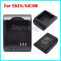 Настольное зарядное устройство зарядки для SJ4000 SJ5000 SJ6000 стиль SJCAM действий спорта камеры DVR батареи док зарядное устройство один порт для EKEN серии Cam