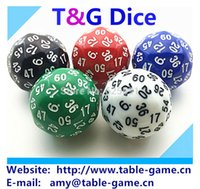 TG кости 1 шт. высокое качество 60 двусторонняя кости, D60 кости, многогранные кости для настольной игры, номер 1-60, подземелье и драконы rpg dd dados