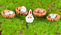 5 pz Mini portello pulcino uovo bonsai terrario figurine ornamenti casa gallina fata giardino pot decor jardins Micro paesaggio