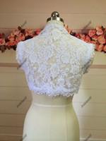 Hochzeits-Spitze-Braut Boleros Sleeveless 2015 Frühlings-Boleros-Braut-Jacken-Hochzeits-Kleider Boleros Jacken, die Kap-Damen-Jacken Wedding sind