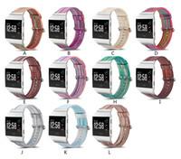 Lüks Boyalı koyun Fitbit Blaze Dalgalanma Için Watch Band Kayışı İyonik şarj 2 İzle renkli desen Bilek İzle Bilezik kordonlu saat