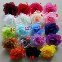 500 PZ 10 CM 20 colori Seta artificiale arco di fiori teste di fiore fai da te puntelli accessori decorazione di cerimonia nuziale baci fare palla
