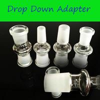 Высокое качество стекла переходники Оптовая DropDown адаптеры для труб стекла курительных Адаптер Jiont от 14 до 14 мужской 14 до 18 мужчина женщина