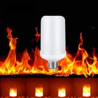 E27 E26 LED 2835 لهب النار تأثير ضوء لمبات 7W 9W أضواء الإبداعية مصباح الوميض مضاهاة الغلاف الجوي ديكور مصابيح