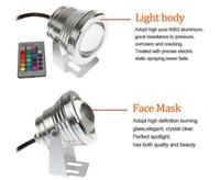 Wholesale-10W 12 فولت تحت الماء rgb led ضوء ماء ip68 نافورة بركة سباحة مصباح Lights16 تغيير اللون + 24key ir النائية تحكم