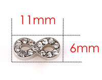 Commercio all'ingrosso 20PCS / lotto di cristallo d'argento infinito lega galleggiante medaglione charms misura per medaglione di vetro di memoria magnetica