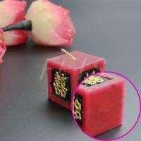 FEIS 도매 붉은 광장 중국 전통 촛불 왁스 웨딩 파티 장식 무연 웨딩 호의 및 선물