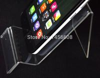 Soporte de acrílico del soporte del soporte del teléfono celular soporte de exhibición del teléfono Estante del estante de exhibición contrario para el iphone Samsung de 5 pulgadas HTC HTC MP3 / 4/5 DHL libre