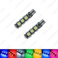 atacado Car T10 194/168 Wedge 13-SMD 5050 Luz LED CANBUS Sem Bulb Erro 7-Color # 3669