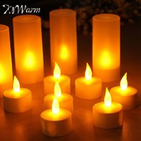 Kiwarm 12pcs Rechargeable Flameless Led Candle Tealight Nigh...