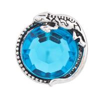 NSB2284 горячие продажа Оснастки ювелирные изделия кнопка для браслет ожерелье 2015 мода DIY ювелирные изделия Кристалл защелки античный геккон кнопки