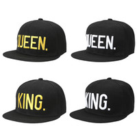 0efc5e2afb1 Wholesale queen hats online - 2017 Summer Unisex European Fashion KING QUEEN  Letter Embroidery Snapback Hat