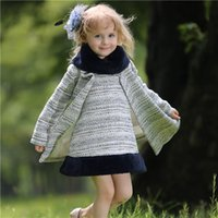 Pettigirl Retail Children Winter Girl Clothing Sets Grey Coa...