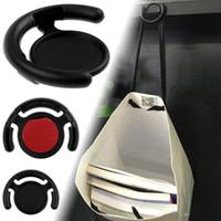 حامل الهاتف متعدد الوظائف Monut Clip Car Wall Office Hooks لأجهزة iPhone اللوحية للهواتف المحمولة مع حقيبة البيع بالتجزئة أسود أبيض