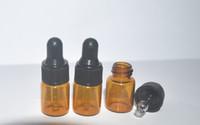 Flacon compte-gouttes en verre ambre 100 ml / 2 ml, flacon d'huile essentielle, parfum