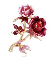 красная роза цветок женщины; брошь с (5,1 * 3,9 см ((myyhmz)