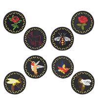 8 PCS / set Bees Badge Aufnäher für Kleidung Taschen Eisen-on Transfer Applikationen Insect Patch für Jacke Jeans DIY nähen auf Stickerei-Aufkleber