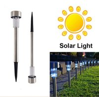 DHL Free Outdoor Stainless Steel LED Solar Landscape Path Li...