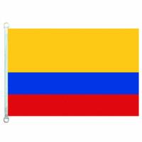 İyi Bayrak Kolombiya bayrağı Bayraklar Banner 3X5FT-90x150 cm 100% Polyester ülke bayrakları, 110gsm Çözgü Örme Kumaş Açık Bayrağı