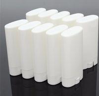 DIY 15 ml Boş Beyaz / şeffaf dudak balsamı ruj krem tüp şişe Ağız Dudak Balsamı Çubuk Örnek Kozmetik Konteyner plastik Deodorant tüpler
