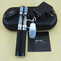 Electronic Cigarettes 650 CE4 Double Atomizer Kits Ce4 900 ECigarette 1100 Vaporizer Battery EGo-T Ego Starter Vape Tanks Mah Pens Case Rdeh