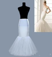En stock Petticoats Mermaid Crinoline White 2019 Birskirt Bridal Slip Unle Hoops Encuadre de cuerpo entero Petticoat para los vestidos de novia de la tarde