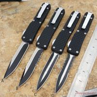 Cuchillos automáticos Big Dinosaur Triangle auto knife Cuchillo de malla antideslizante 440 blade Tácticas de acampar al aire libre pesca Supervivencia cuchillo