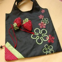도매 - 고품질 저장 핸드백 딸기 접이식 쇼핑 가방 재사용 접는 식료품 나일론 대형 shoping 가방입니다 멀티 컬러