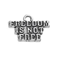 Ücretsiz kargo Yeni Moda diy kolay 30 Adet El yapımı Mesaj Özgürlük Değil Ücretsiz Aksesuar Charm Takı takı yapımı için fit kolye veya