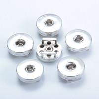 Aleación de plata 18 mm Noosa Nosa Chunk Ginger Snap Base Accesorios intercambiables para la joyería Botón a presión Base DIY Accesorio de la joyería